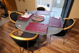 Glass topped table & 4 chairs set