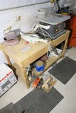 Oscillating Spindle Sander, table, accessories underneath