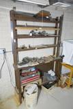 Antique Wood bench shelf