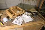 Artist's portable easel & other bench top items