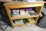 Cabinet contents and items on top - extension cords etc