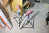 2 shop wood rollers on stands