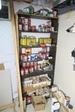Wall items lot - many cans of screws, nuts, nails etc