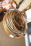 Coils of copper tubing lot