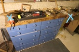 Items on cabinet top lot - no vices