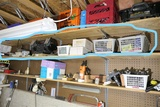Shelf lot tools, assorted items