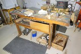 Items on and underneath workbench