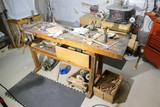 Antique workbench, 2 vices