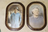Finely tinted 1930s Portraits in bubble frames
