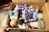 Box lot of vintage dolls including older AME American