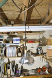 Hanging shop or industrial lamp