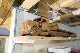 Wooden Semi Truck, trains, knife etc