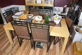 Ikea table and six chairs - NICE