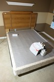 Queen sized bed frame, box spring, head board