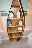 Assorted contents of canoe shelf