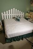King Sized Bed Headboard, mattress, box spring