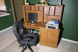 Office chair and computer desk