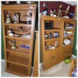 Group Lot of 3 Shelf Storage cabinets