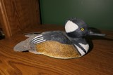 Carved wood and painted duck decoy by Emeric Zuccaro