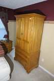 Cayton furniture oak armoire w/drawers