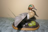 Carved wood and painted duck by Emeric Zuccaro