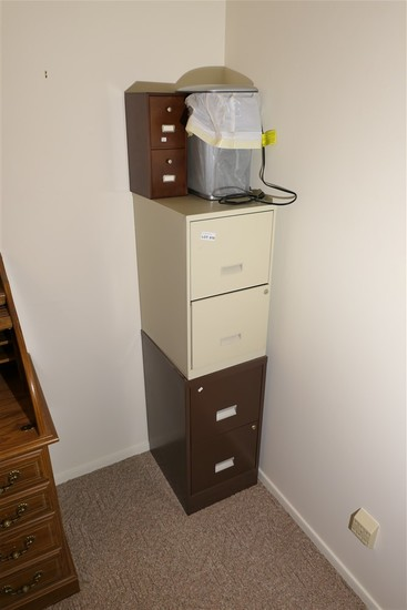 Paper shredder, file cabinets etc lot