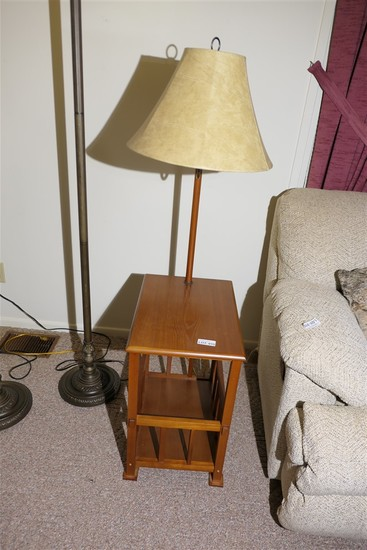 Vintage end table lamp combination