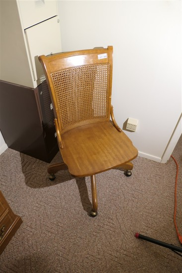 Nice Vintage Wooden Office Chair