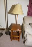 Vintage end table lamp combination