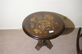Vintage Hitchcock style wooden table