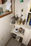 Antenna and items on shelf lot