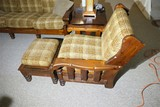 Vintage Chunky Furniture Chair and Footstool