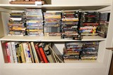 Large lot of movie DVDs, Books