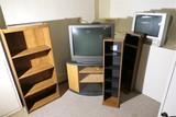 TVs, Shelves, Entertainment stand lot