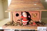 Vintage Santa Claus in Cabin Christmas Piece