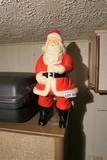 Vintage Plastic Light Up Santa - Nice