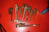 Group Lot nicer Vintage Ridgid Pipe Wrenches etc