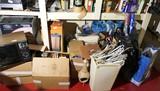 Assorted bottom of shelf unit items lot