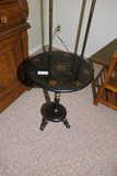 Small tole painted stand or table