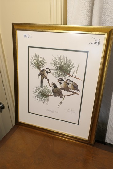 Sign Ray Harm Bird Print in Frame