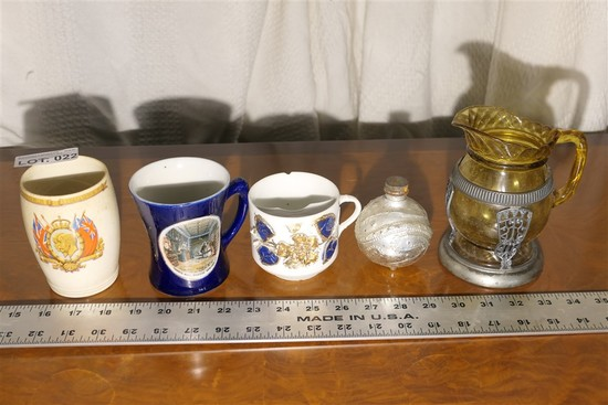 Group Collectible Glass, Ceramics - Antique