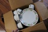 Box of Royal Norfolk Christmas Plates +