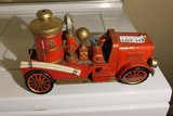 Vintage Battery Operated Metal Fire Truck Toy