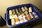 3 Totes of Vintage Beer Cans