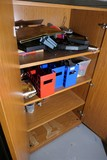 Contents of storage cabinet - toys