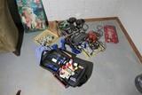 Nintendo N64, Poker chips, assorted items