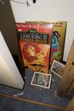 Lion King, Little Mermaid Posters etc in frames