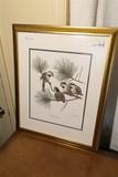Sign Ray Harm Bird Print in Frame