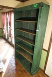 Large Antique Green Shelf Unit