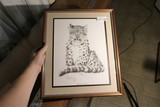 Vintage Signed Print by Guy Coheleach - Snow Leopard